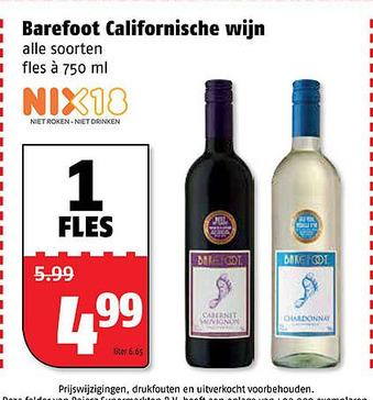 Barefoot Californische wijn