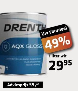 Drenth AQX verf wit 1 liter