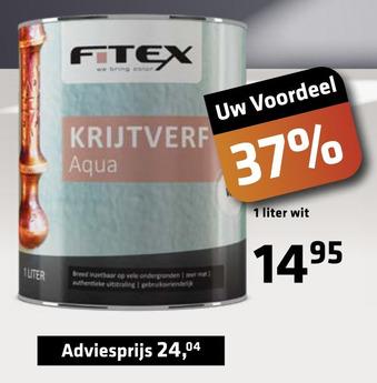 Fitex kruitverf Aqua wit 1 liter
