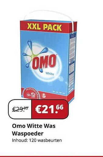 Omo Witte Was Waspoeder Inhoud: 120 wasbeurten