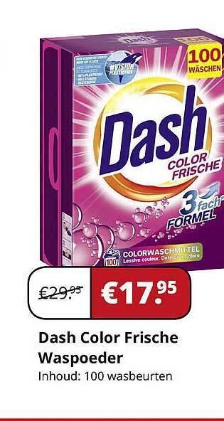 Dash Color Frische Waspoeder Inhoud: 100 wasbeurten