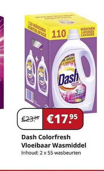 Dash ColorFresh Vloeibaar Wasmiddel Inhoud: 2x55 wasbeurten