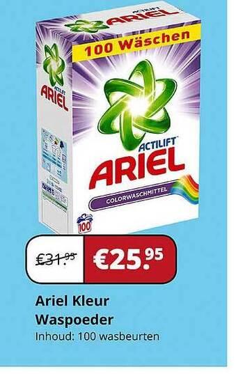 Ariel Kleur Waspoeder Inhoud: 100 wasbeurten
