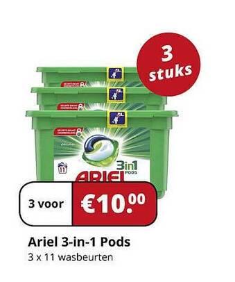 Ariel 3 in 1 P:ods 3x11