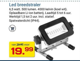 Led breedstraler 6,5w