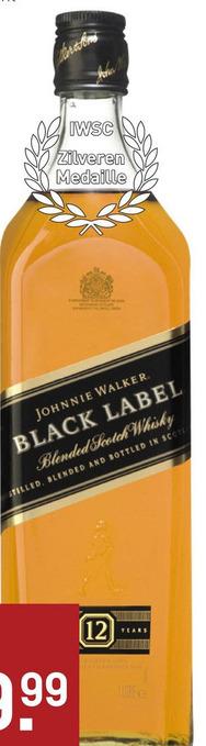 Johnnie Walker Black 12 Years 100CL Whisky