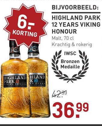 Highland Park 12 Years Viking Honour 70CL Whisky