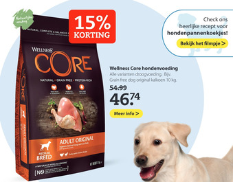 Wellness Core hondenvoeding