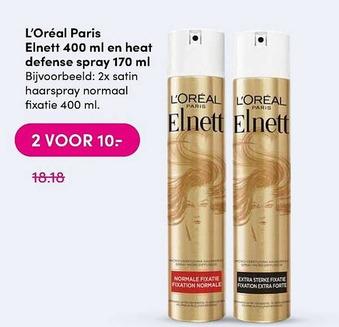 L'Oréal Paris Elnett 400 ml en heat defense spray 170 ml