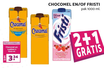 Chocomel en/of fristi