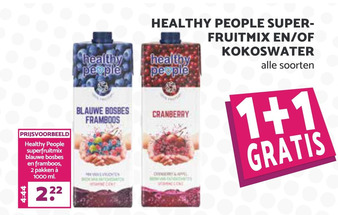 Healthy People superfruitmix en/of kokoswater