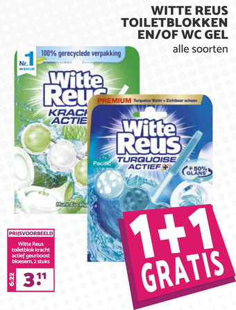 Witte Reus toiletblokken en/of wc gel
