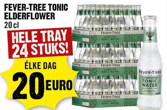 Fever-tree tonic elderflower tray 24 flesjes 20 cl