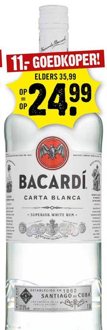 Bacardi rum fles 1L
