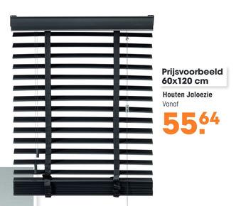 Houten Jaloezie 60x120cm