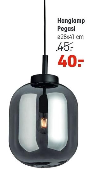 Hanglamp Pegasi 28x41cm