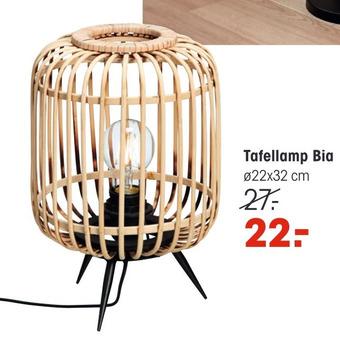 Tafellamp Bia 22x32cm