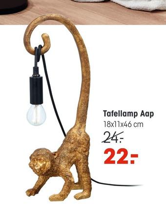 Tafellamp Aap 18x11x46cm