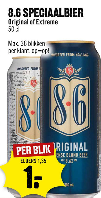 8.6 speciaalbier blik 50 cl