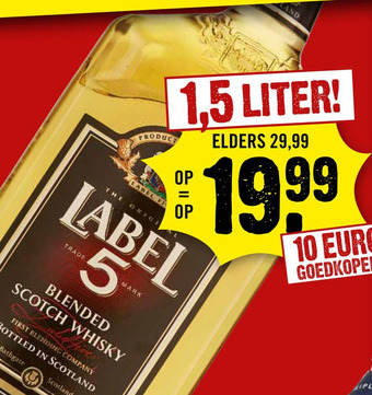Label 5 1,5 liter