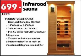 Infrarood sauna incl. CD speler