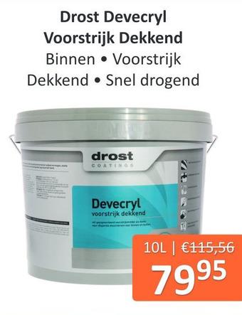 Drost Devecryl Voorstrijk Dekkend 10L