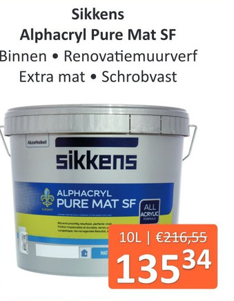 Sikkens Alphacryl Pure Mat SF 10L