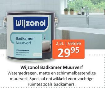 Wijzonol Badkamer Muurverf 2.5L