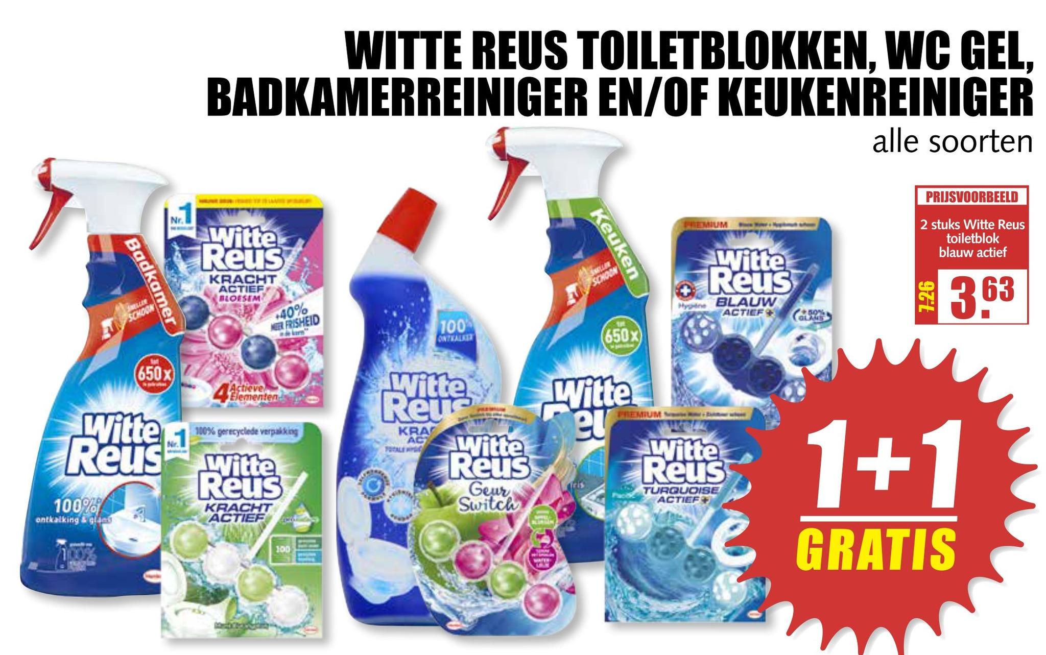 Witte Reus Toiletblokken Wc Gel Badkamerreiniger En Of Keukenreiniger Aanbieding Bij Mcd Supermarkt