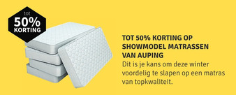 Showmodel matrassen van Auping