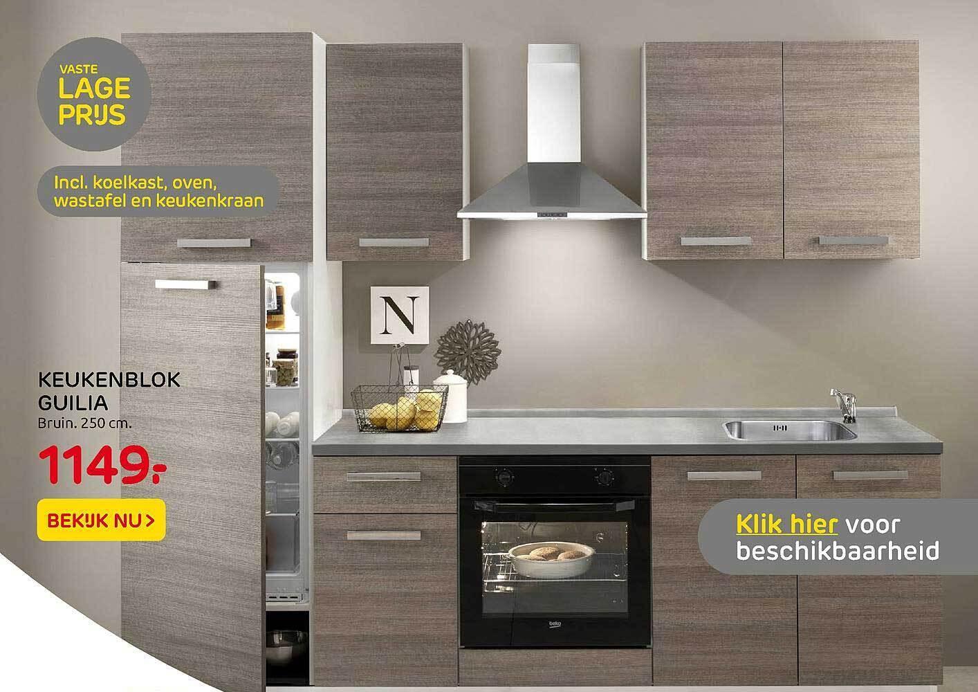 Keukenblok Guilia 250 Cm Aanbieding Bij Praxis