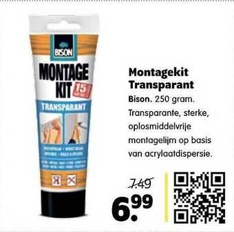 Montagekit Transparant 250 gram