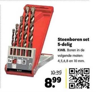 Steenboren Set 5-Delig