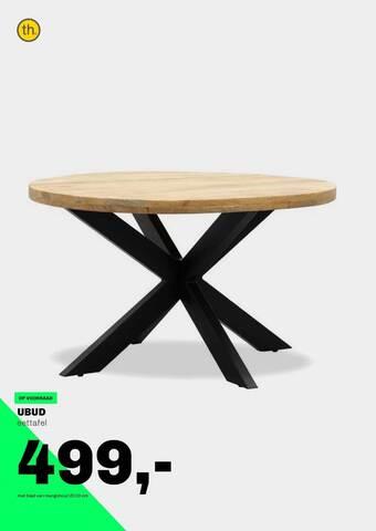 Ubud Eettafel 130 cm