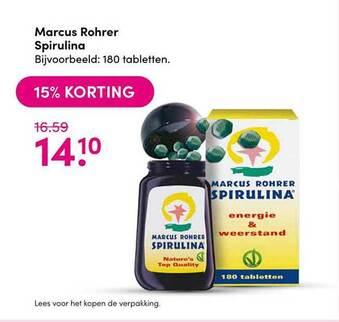 Marcus Rohrer Spirulina 180 tabletten