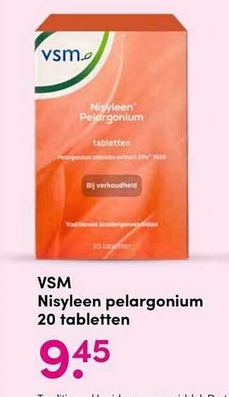 VSM Nisyleen Pelargonium 20 Tabletten