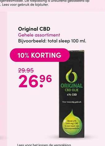 Original CBD 10% Korting 100ml