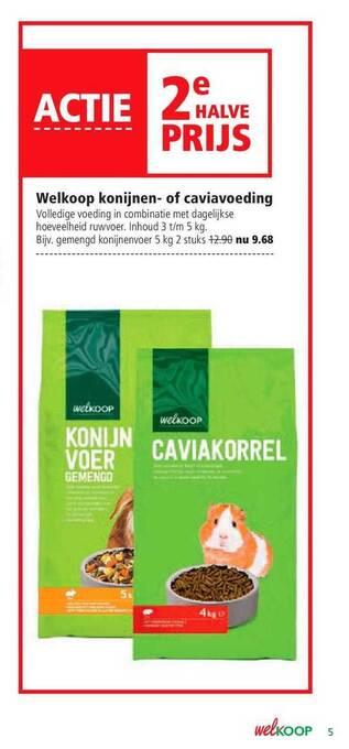 Welkoop Konijnen- Of Caviavoeding 5kg