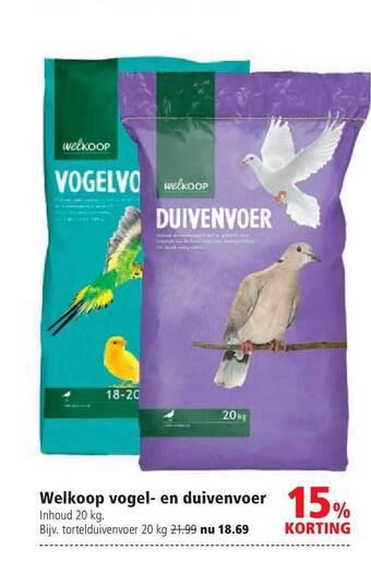 Welkoop Vogel- En Duivenvoer 20kg