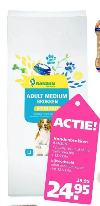 Hondenbrokken Ranzijn 12,5 kilo