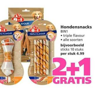 Hondensnacks 8in1 2+1 Gratis