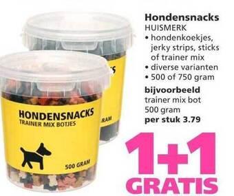 Hondensnacks Huismerk 500 of 750 g