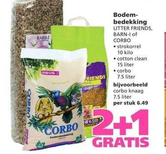 Bodembedekking Litter Friends, Barn-I Of Corbo 2+1 Gratis