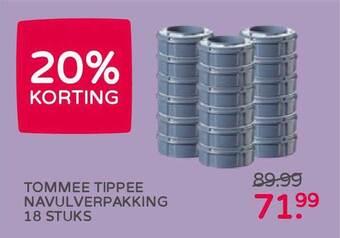 Tommee Tippee Navulverpakking 18 Stuks 20% Korting