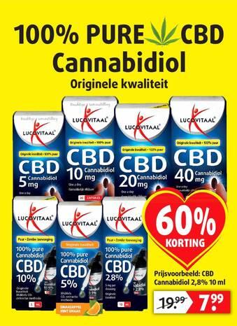 CBD Cannabidiol 2.8% 10 Ml 60% Korting