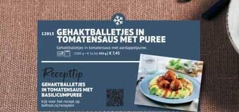 Gehaktballetjes In Tomatensaus Met Puree 450gram