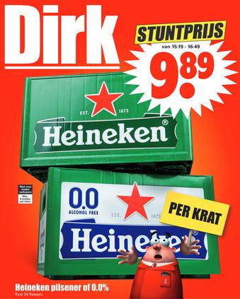 Heineken pilsener of 0.0%