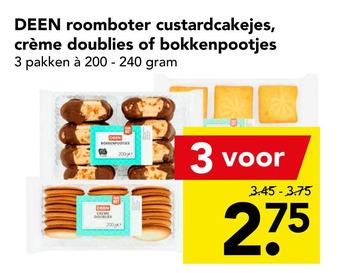 DEEN roomboter custardcakejes, crème doublies of bokkenpootjes