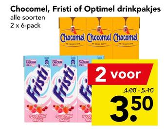 Chocomel, Fristi of Optimel drinkpakjes