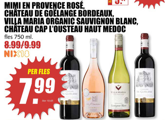 Diverse wijnen 750ml
